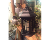 Black Iron Decorative Lantern with LED Candle in Owensboro, Kentucky, Welborn's Floral Company