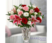 Marquis by Waterford� Blushing Rose and Lily Bouqu in Huntington WV, Archer's Flowers, Inc.