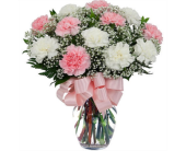 Pink and White Carnations in New Glasgow NS, McKean's Flowers Ltd.