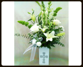 Magnificent Cross Bouquet in Tyler TX, The Flower Box