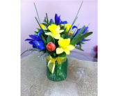 Joyful Spring bouquet/Bouquet  Printemps in Grand-Sault/Grand Falls NB, Centre Floral de Grand-Sault Ltee