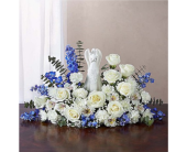 Serenity Angel Arrangement Blue and White in Huntington WV, Archer's Flowers, Inc.