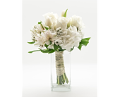 White Handheld Bouquet in Blue Bell PA, Blooms & Buds Flowers & Gifts
