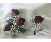 3 red roses corsage in Kennewick WA, Shelby's Floral