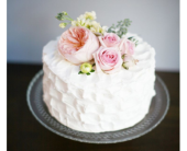 Birthday Cake with fresh flowers in Eau Claire WI, Eau Claire Floral