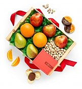 Harvest Grove Nuts and Fruit Crate - by GiftTree Flowers
