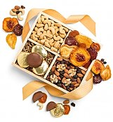 Nuts and Fruit Harvest Crate - by GiftTree Flowers