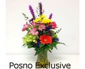 Bright and Bold Vase in London ON, Posno Flowers