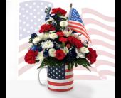 Patriotic Mug in Southfield, Michigan, Thrifty Florist