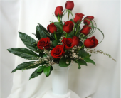 Towering Rose Bouquet in Saratoga Springs NY, Dehn's Flowers & Greenhouses, Inc