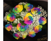 Rainbow Roses in Spruce Grove AB, Flower Fantasy & Gifts