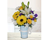 It's a Boy Mug - Deluxe in Dallas TX, In Bloom Flowers, Gifts and More