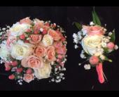 Sample Wedding Bouquet/Corsage Combo in Wynantskill, New York, Worthington Flowers & Greenhouse
