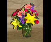 New Berlin Flowers - Summer Ball Jar - Barb's Green House Florist