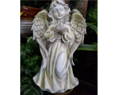 Praying Stone Angel in Belleville MI, Garden Fantasy on Main