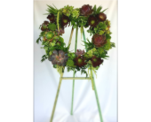 Succulent Wreath in Los Angeles, California, Dave's Flowers