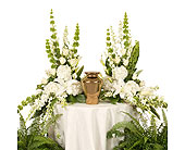 Elegant White Urn Arrangement in Dallas TX, In Bloom Flowers, Gifts and More
