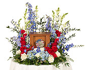 Patriotic Urn Arrangement in Dallas TX, In Bloom Flowers, Gifts and More