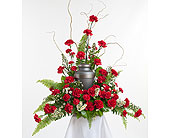 Classic Carnation Urn Arrangement in Dallas TX, In Bloom Flowers, Gifts and More