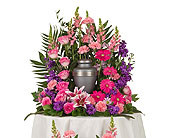 Delicate Touch Urn Arrangement in Dallas TX, In Bloom Flowers, Gifts and More