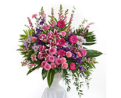 Delicate Touch Pedestal Arrangement in Dallas TX, In Bloom Flowers, Gifts and More