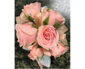 Pink and Rinestone Corsage in Clearwater, Florida, Hassell Florist