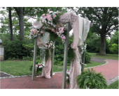 Wedding Arbor 002 in Etna, Pennsylvania, Burke & Haas Always in Bloom