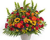 Tuscan Pedestal Arrangement in Dallas TX, In Bloom Flowers, Gifts and More