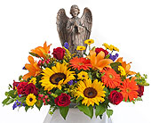 Tuscan Angel Arrangement in Dallas TX, In Bloom Flowers, Gifts and More