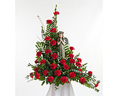 Classic Carnation Praying Angel Arrangement in Dallas TX, In Bloom Flowers, Gifts and More