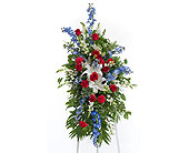 Patriotic Easel in Dallas TX, In Bloom Flowers, Gifts and More