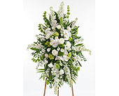 Elegant White Easel in Dallas TX, In Bloom Flowers, Gifts and More