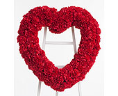 Classic Carnation Heart in Dallas TX, In Bloom Flowers, Gifts and More