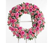 Roses & Carnations Wreath in Dallas TX, In Bloom Flowers, Gifts and More