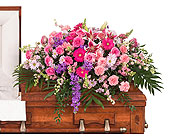 Delicate Touch Casket Spray in Dallas TX, In Bloom Flowers, Gifts and More
