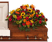 Tuscan Casket Spray in Dallas TX, In Bloom Flowers, Gifts and More