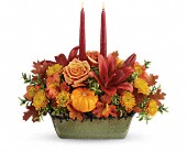 Teleflora's Country Oven Centerpiece in Bradenton FL, Tropical Interiors Florist