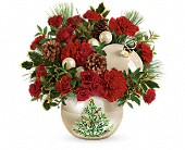 Teleflora's Classic Pearl Ornament Bouquet in Valdosta GA, Zant's Flower Shop