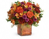 Teleflora's Golden Amber Bouquet in St. Clair Shores MI, DeRos Delicacies
