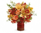 Teleflora's Harvest Crock Bouquet in St. Clair Shores MI, DeRos Delicacies