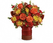 Teleflora's Heirloom Crock Bouquet in Greensboro NC, Botanica Flowers and Gifts