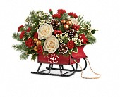 Teleflora's Joyful Sleigh Bouquet in Milwaukee WI, Flowers by Jan