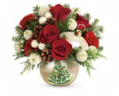 Teleflora's Twinkling Ornament Bouquet in Mississauga ON, Flowers By Uniquely Yours