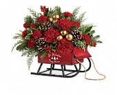 Teleflora's Vintage Sleigh Bouquet in Bradenton FL, Tropical Interiors Florist