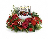 Thomas Kinkade's Festive Moments Bouquet in Fair Haven NJ, Boxwood Gardens Florist & Gifts