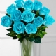 Aqua Tinted Island Rose Bouquet