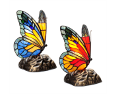 Stained Glass Butterfly Touch Lamp, Blue in Moline IL, K'nees Florists