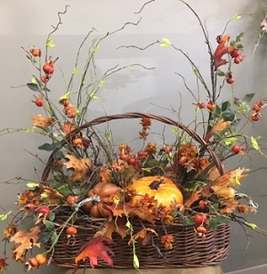 Willow Pumpkin Basket in Beaver PA, Snyder's Flowers