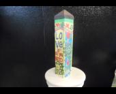 Small art peace pole in Cullman, Alabama, Cullman Florist