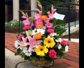 SPRING BASKET ARRANGEMENT in Arlington, Virginia, Twin Towers Florist